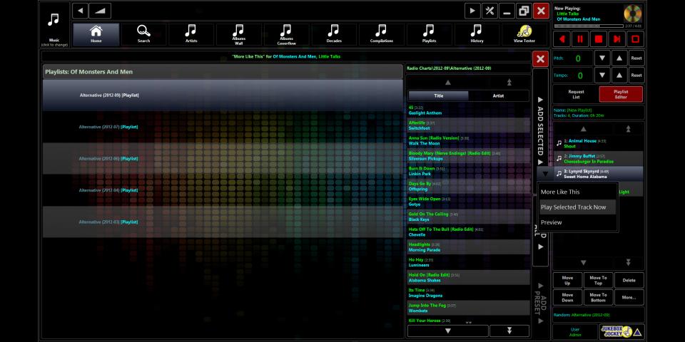 Jukebox Jockey Media Player Software Features